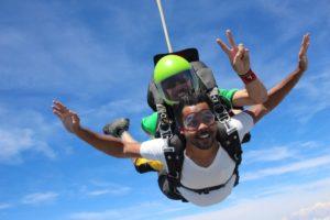 saut en parachute tandem en paca en plein vol