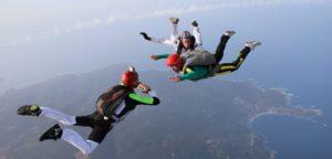 Saut initiation parachute dans le Var