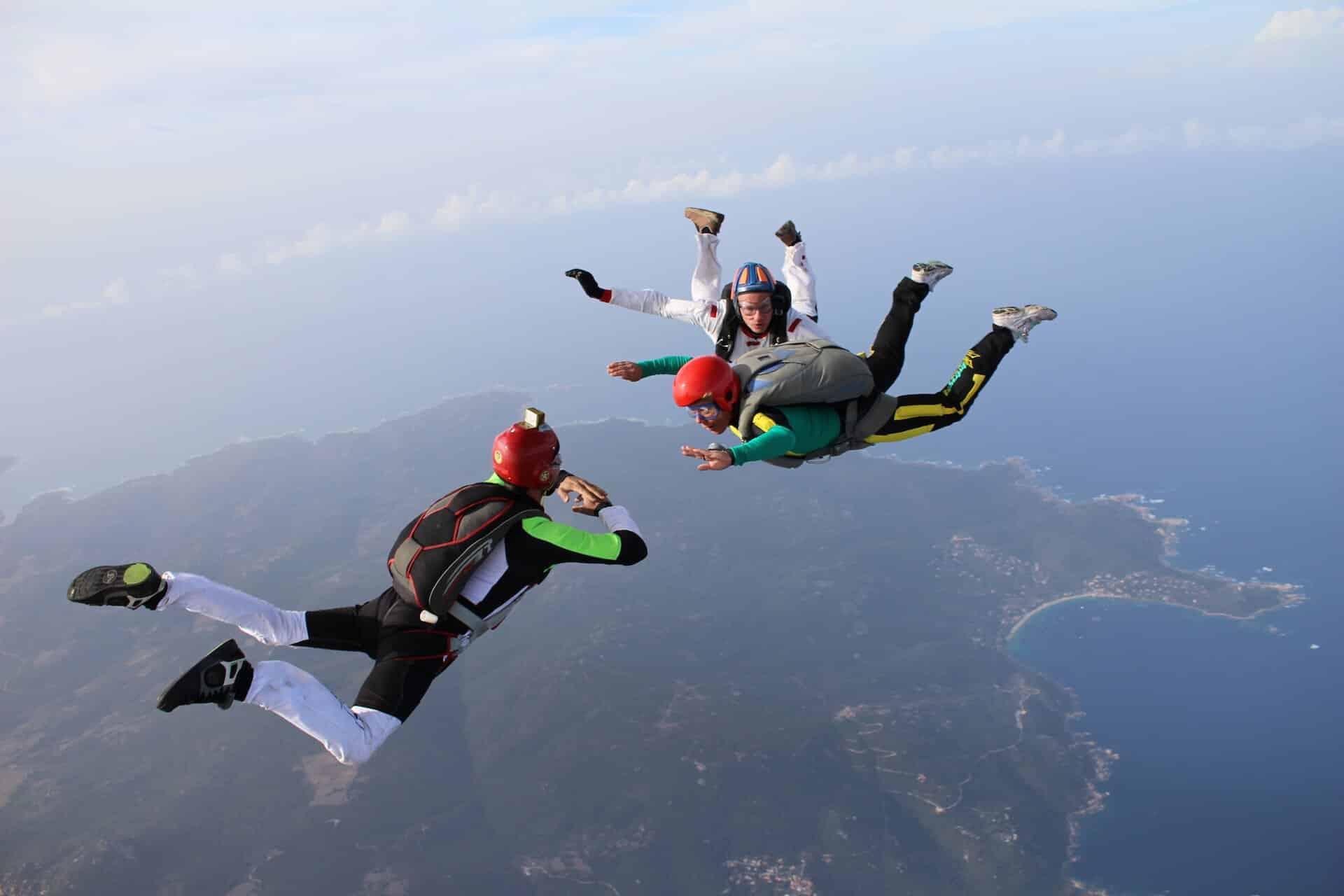 Saut en parachute PACA initiation