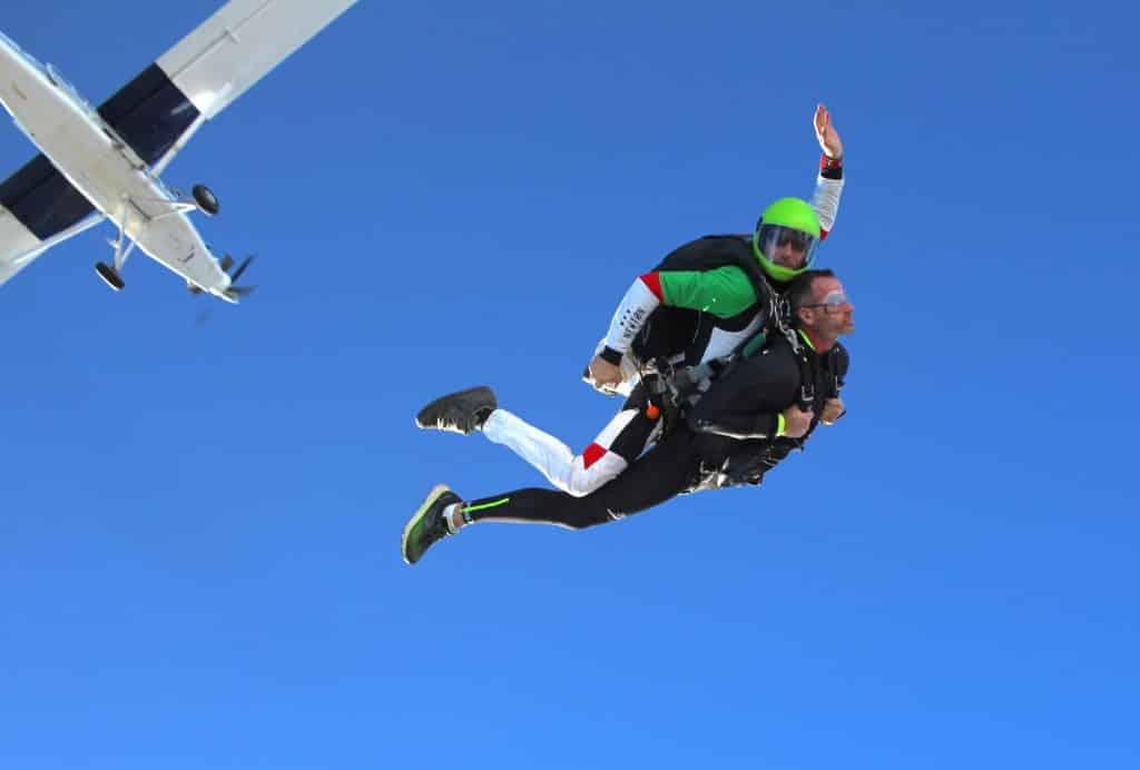 Saut en parachute Saint Tropez en tandem
