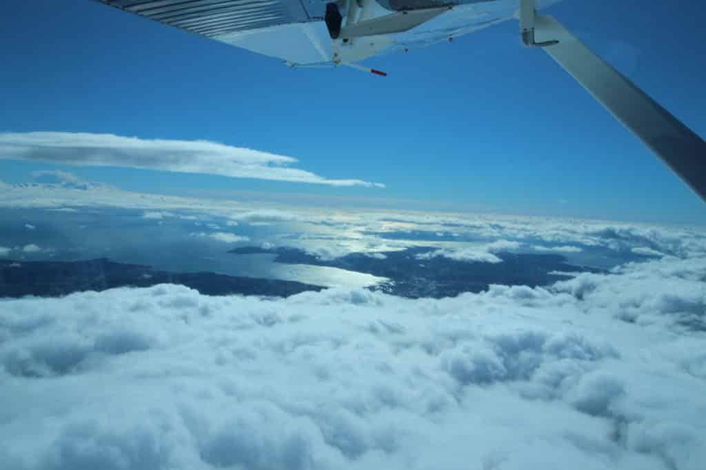 Saut en parachute St Tropez vue mer