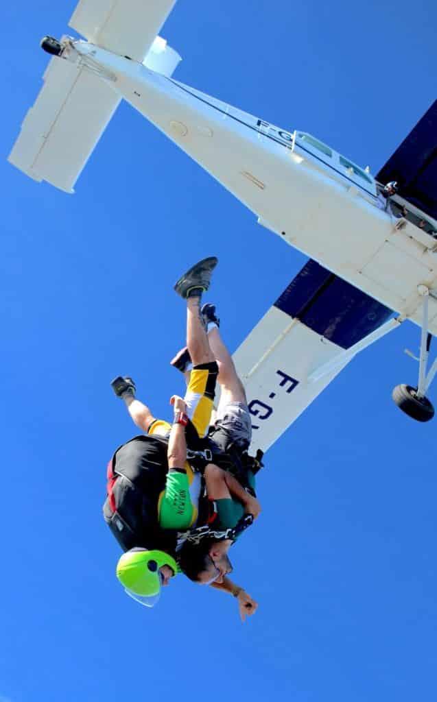 Saut en parachute et EVG