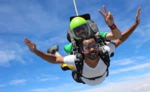 Tarifs saut parachute Newton Experience
