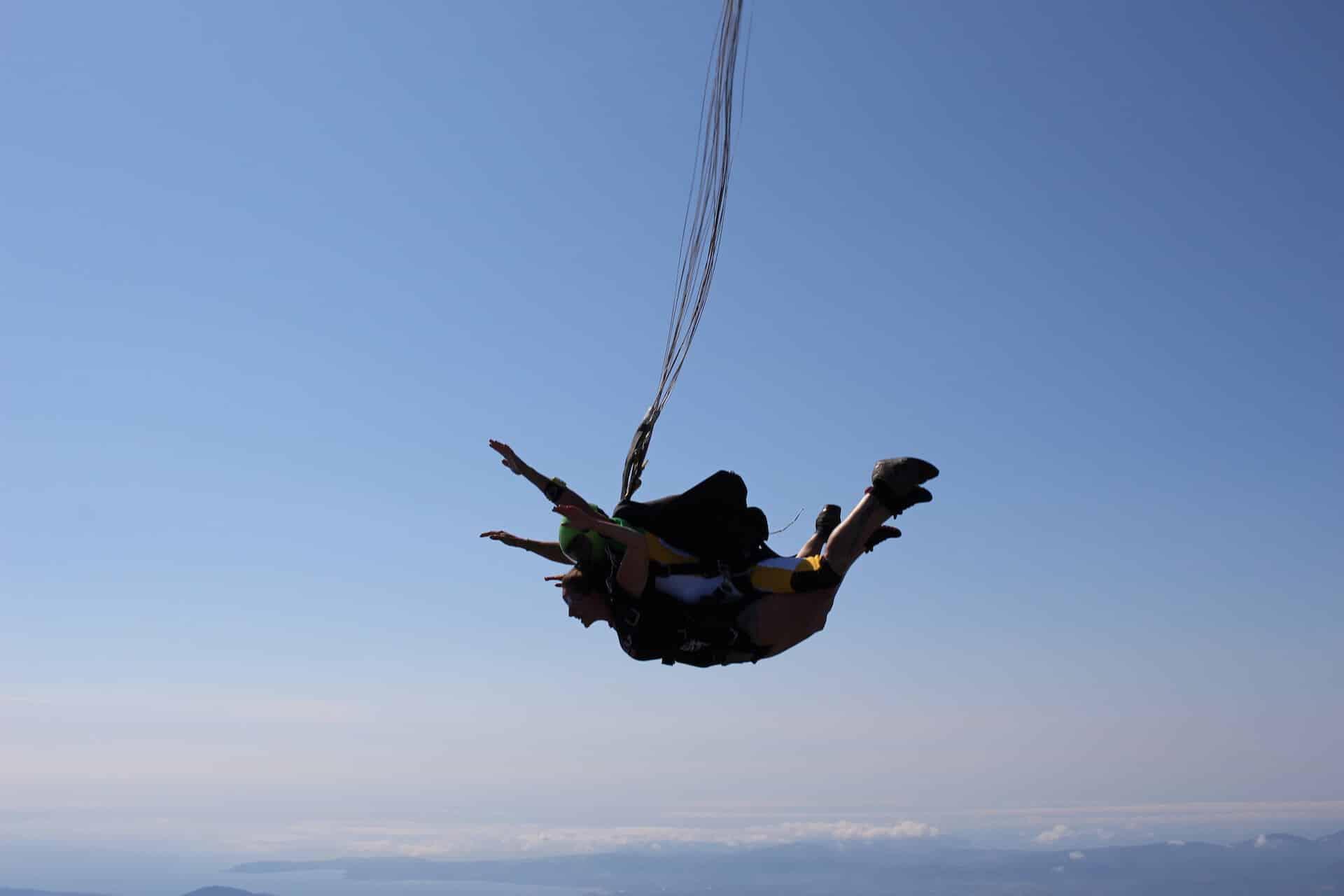 Baptême de saut en parachute en PACA