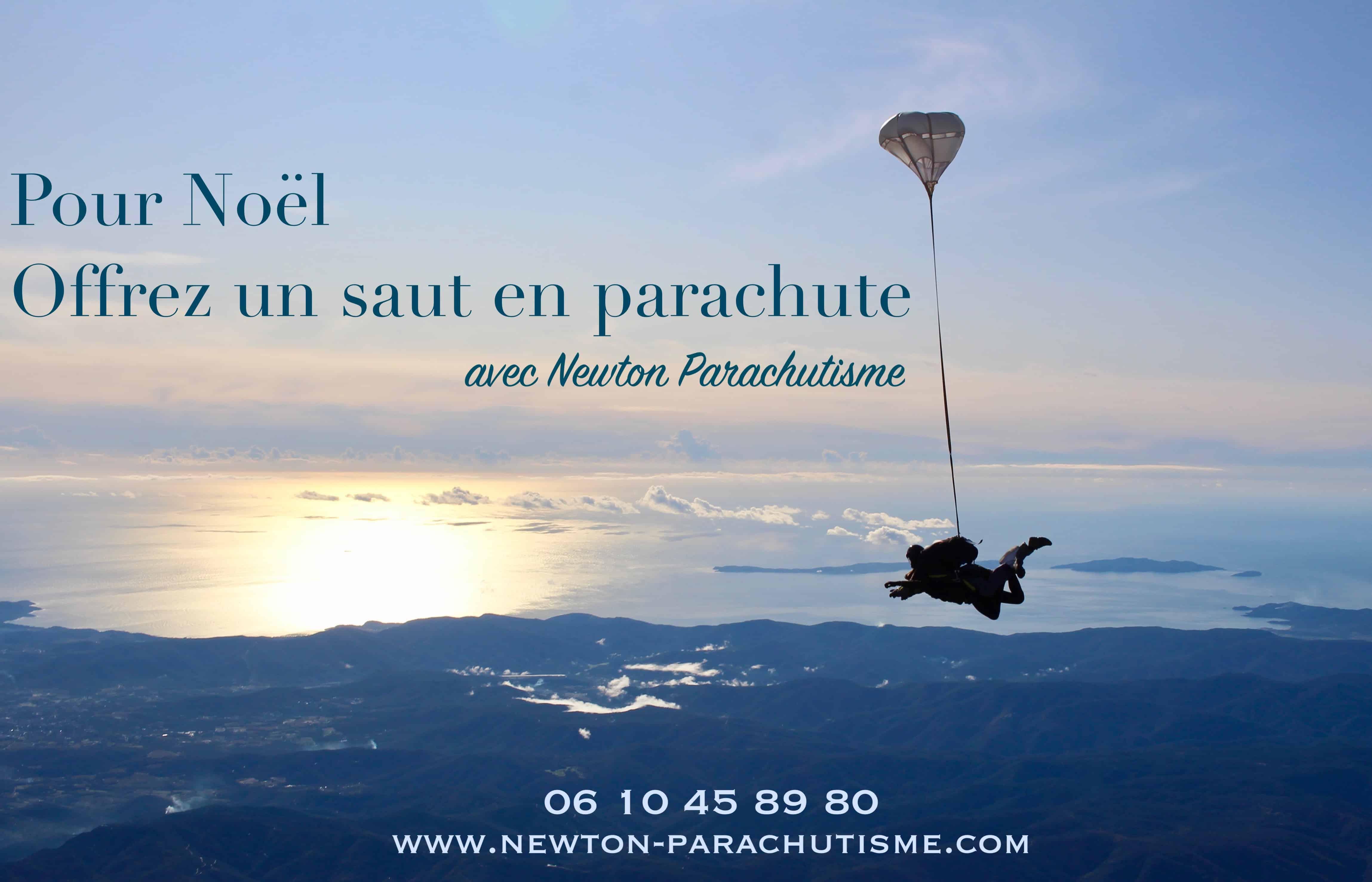 saut en parachute noël
