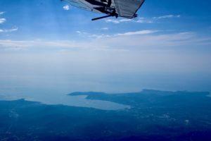 vue du var depuis un saut en parachute avec Newton Parachutisme